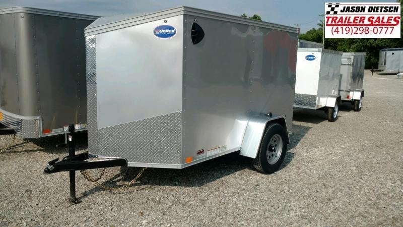 2021 United XLV 5X8 V-Nose  Enclosed Cargo Trailer
