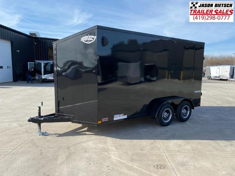 2021 Impact 7x14 (Blackout) V-Nose Cargo Trailer