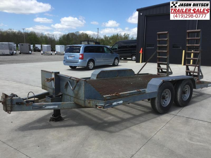 2004 MAC LANDER 78x16 Equipment Hauler Trailer 14K