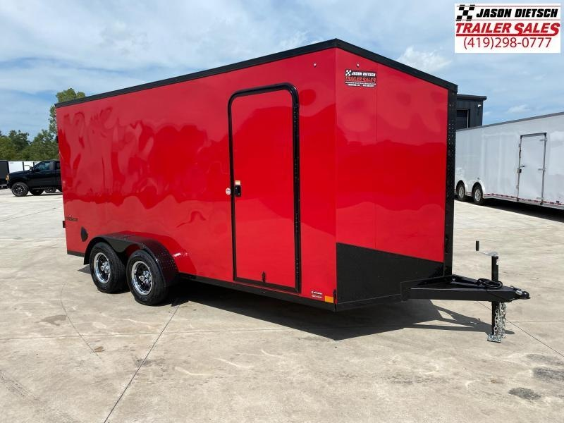 2021 Impact 7x14 V Nose Cargo Trailer Extra Height