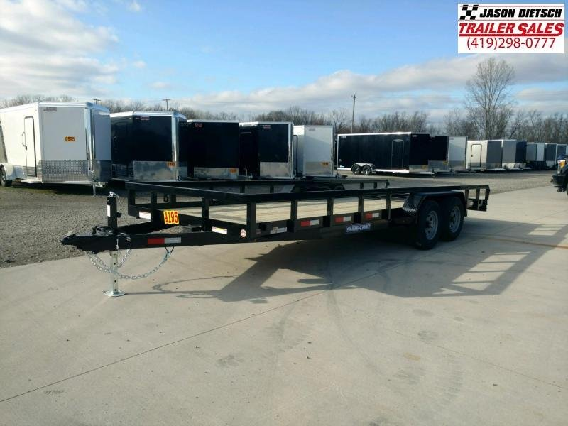 2021 Sure-Trac 7x20 Tube Top Utility Trailer 10K