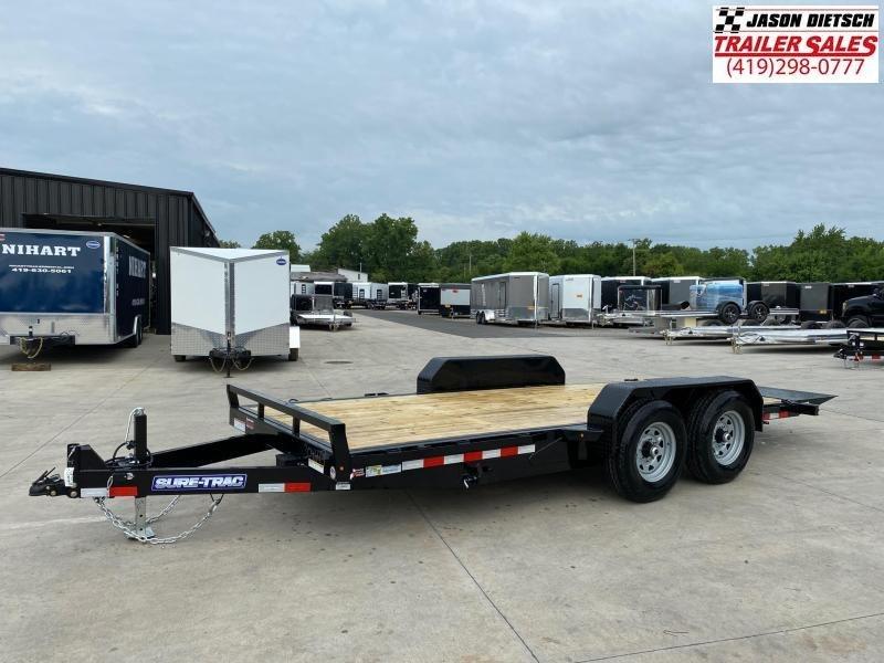 2021 Sure-Trac 7x18 Tilt Bed Equipment Trailer 14K