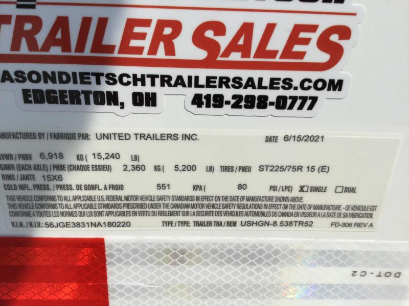 2022 United USHGN 8.5x38 Super Hauler Gooseneck Race Trailer Extra Height