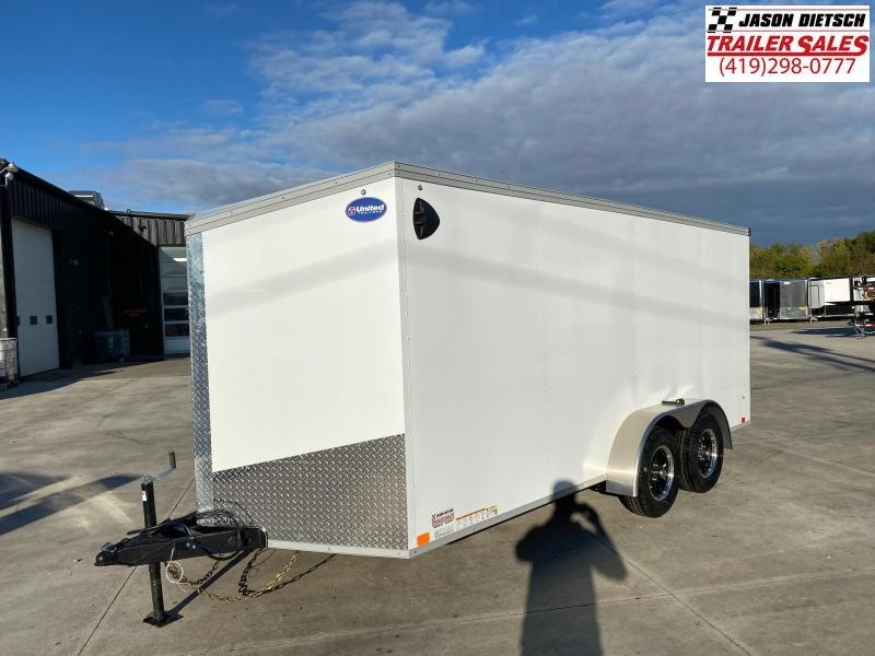 2021 United XLV 7x16 V Nose Cargo Trailer