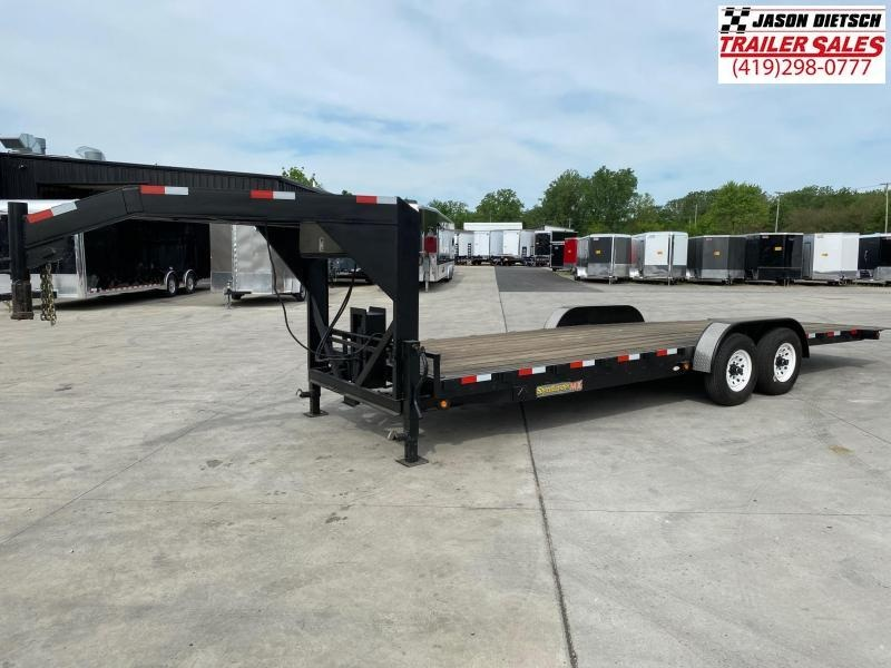 2003 H and H 83x24 Tandem Axle Tilt Equipment Trailer