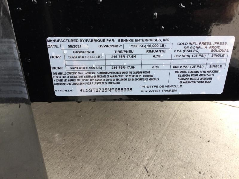 2022 Behnke 16K 83X22 (16+6) Partial Tilt Equipment Trailer