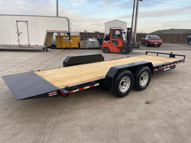 2021 Sure-Trac 7x18+4 Tilt Bed Equipment Trailer 14K