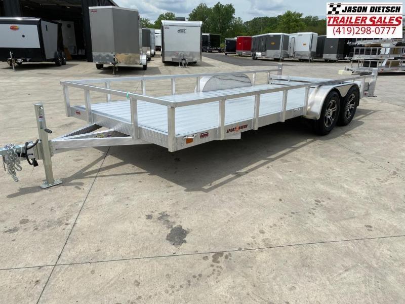 2021 Sport Haven 7X18 Aluminum Utility Trailer