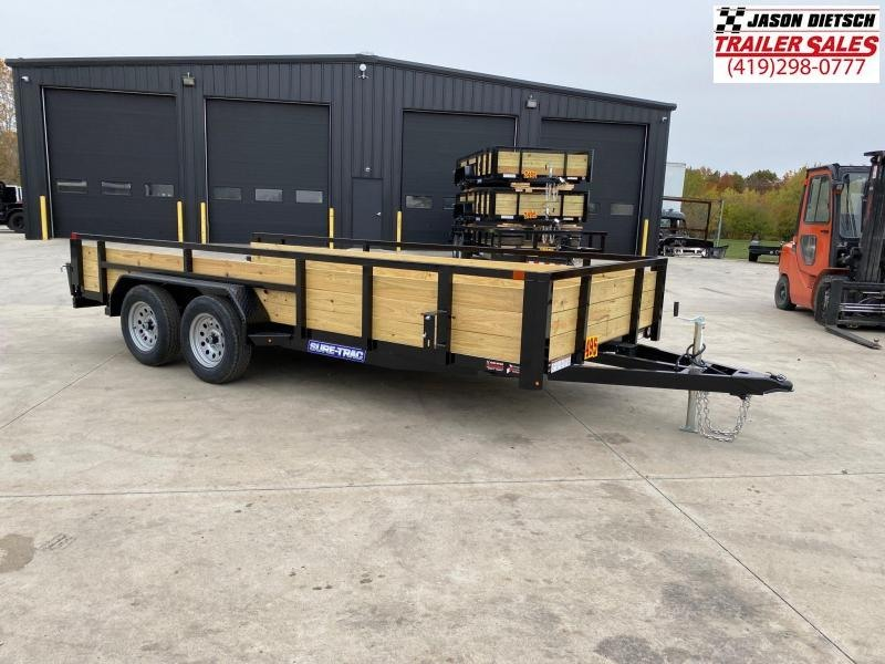 2021 Sure-Trac 7 x 16 Tube Top Three Board Trailer  7K