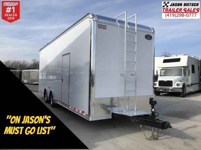 "2019 United 8.5X28 Car/Race Trailer 30"" Extra Height"