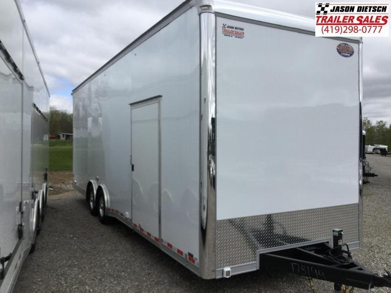 2021 United 8.5X28 Extra Height Dirt late model Car Trailer