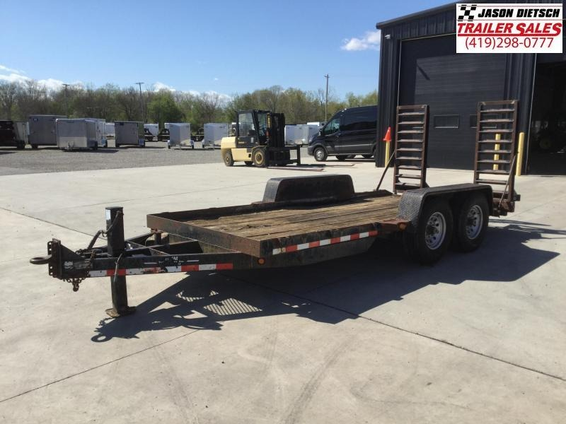 2000 MAC LANDER 83x16 Equipment Hauler Trailer 14K