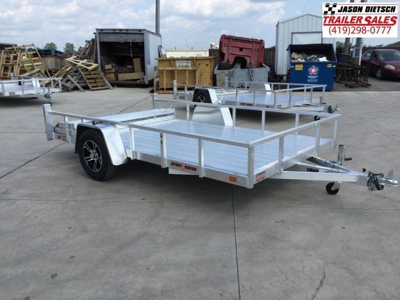 2021 Sport Haven 7X12 Aluminum Utility Trailer