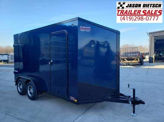 2021 Impact Tremor Blackout 7X16 Extra Height  V-Nose Cargo Trailer
