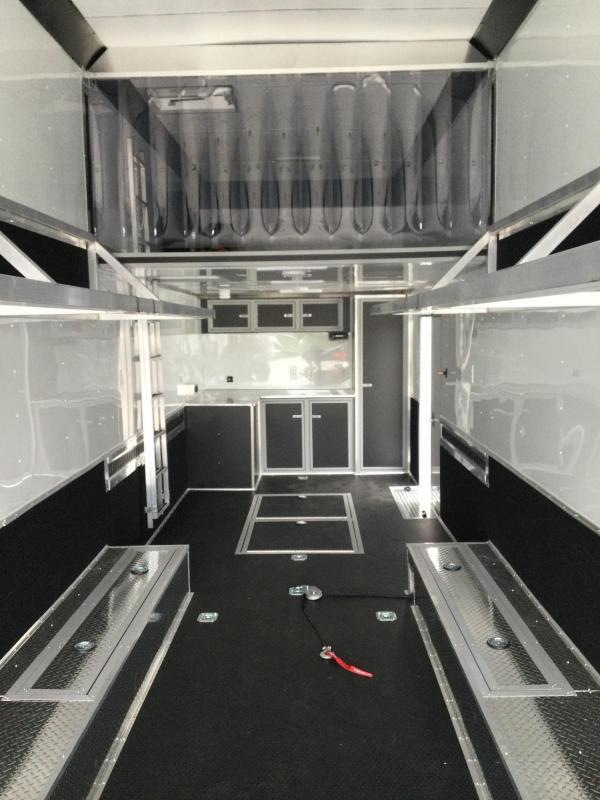 2022 United Super Hauler 8.5X36 Ramp Over Extra Height Race Trailer