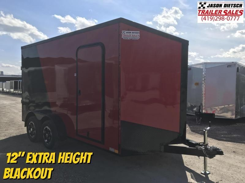 2020 Impact Tremor Blackout 7X14 Extra Height V-Nose Cargo Trailer