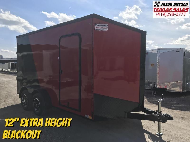 2020 Impact Tremor Blackout 7X14 Extra Height V-Nose Cargo Trailer