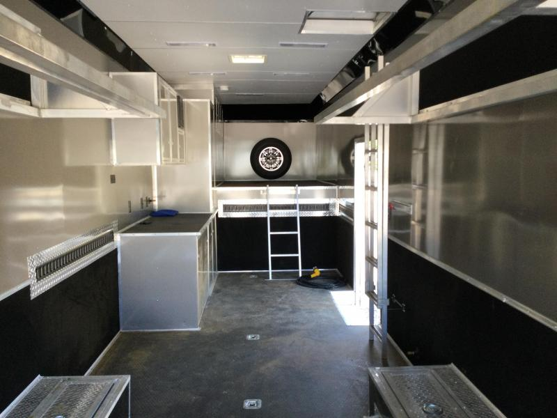 2020 United Gooseneck 8.5X40 Ramp Over Racing Trailer