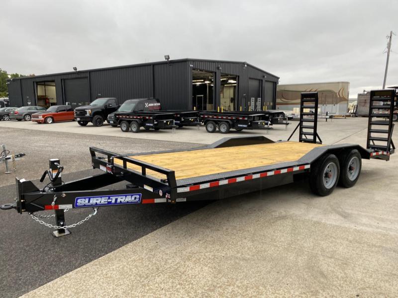 2021 Sure-Trac 8.5 X 20 (18+2) Full-Width Equipment Tra