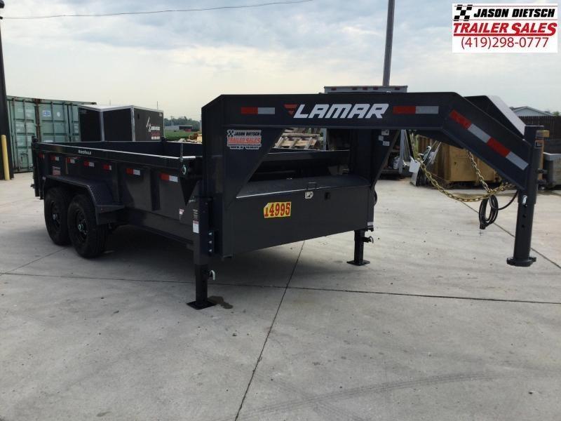 2021 LAMAR 83X14 Gooseneck Dump Trailer