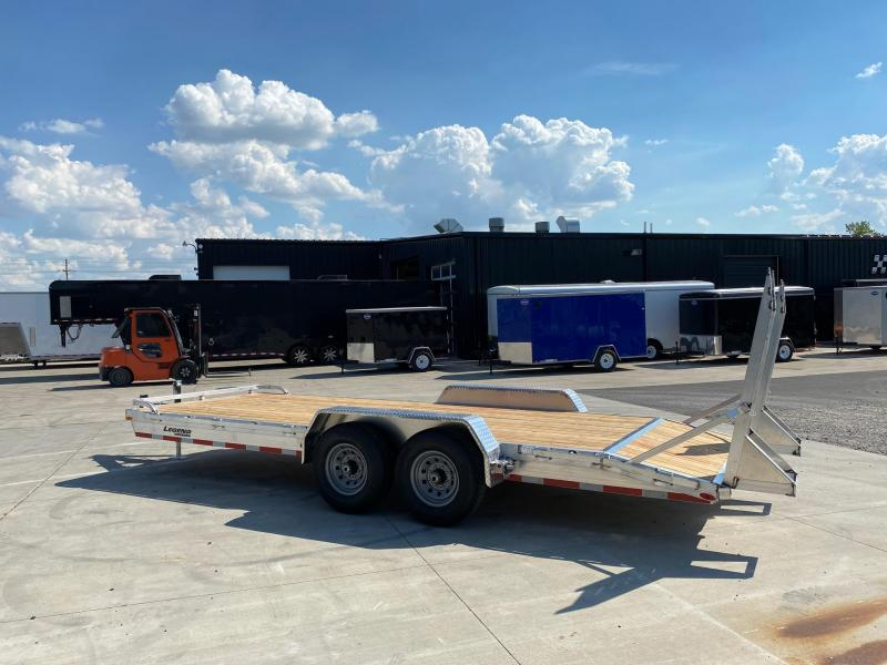 2021 Legend 7x20 All Aluminum Equipment/Car Trailer