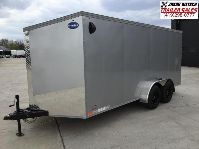 2022 United XLV 7x16 V-Nose Enclosed Cargo Trailer