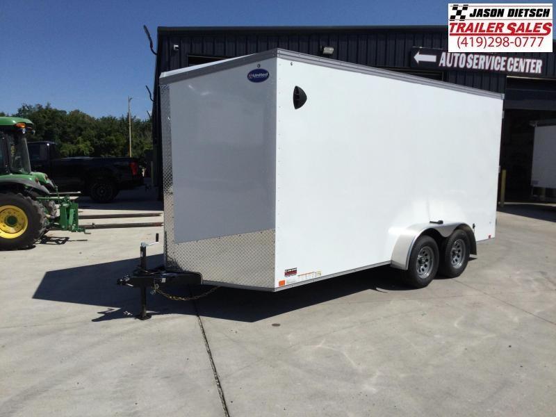 2022 United XLV 7x16 V-Nose Enclosed Cargo Trailer Extra Height