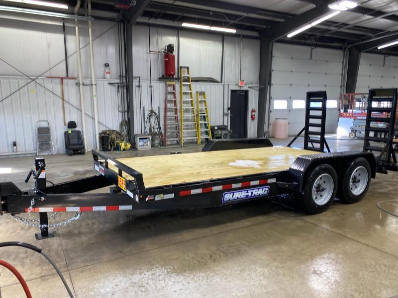 2021 Sure-Trac 7 x 16 (14+2) Equipment Trailer  16K