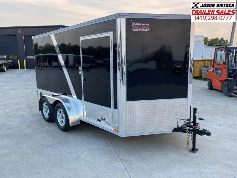 2021 United Trailers XLMTV 7x12 Wedge-Nose Enclosed Car Hauler....Stock # UN-175048