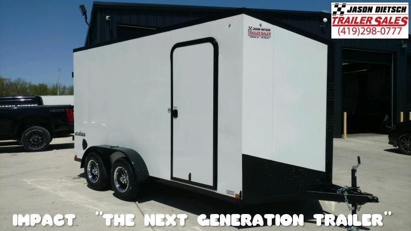 2021 Impact 7x14 Slant/V Nose Cargo Trailer Extra Height