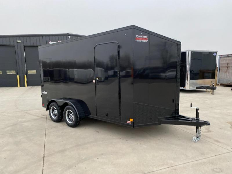 2021 Impact Tremor Blackout 7X14 Extra Height V-Nose Cargo Trailer