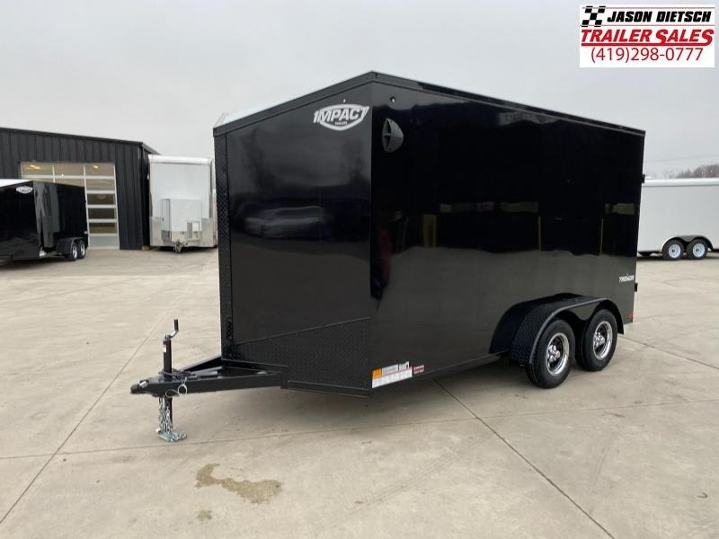 2021 Impact Tremor Blackout 7X14 Extra Height V-Nose Cargo Trailer