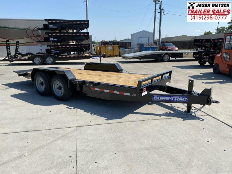 2021 Sure-Trac 7x18 Tilt Bed Equipment Trailer 16K