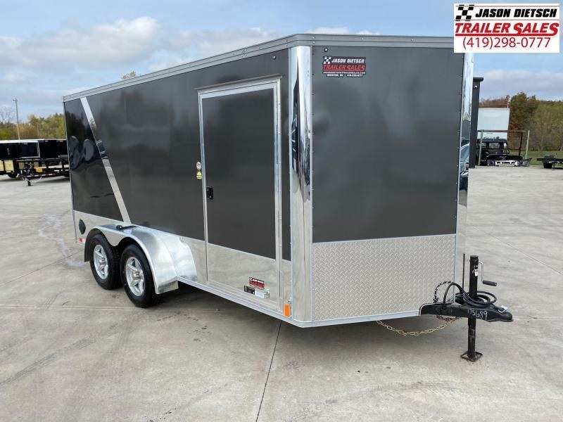 2021 United Trailers XLMTV 7x14 Wedge-Nose Enclosed Car Hauler....Stock # UN-175689