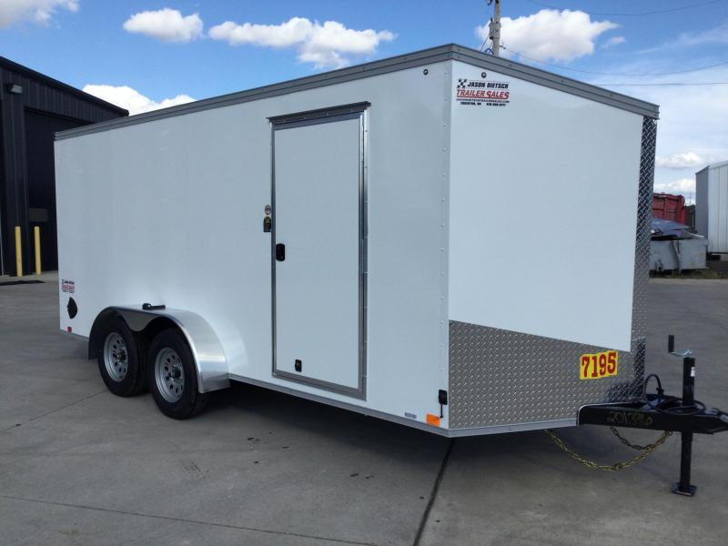 2022 United XLV 7x16 V-Nose Enclosed Cargo Trailer