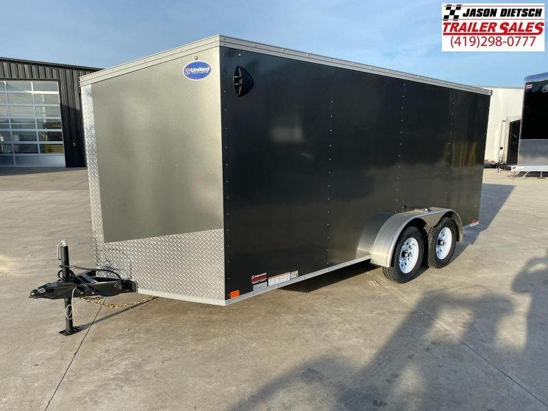2021 United XLV 7X16 V-Nose Cargo Trailer