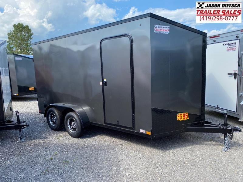 2021 Impact Tremor Blackout 7x14 Slant/V Nose Cargo Trailer