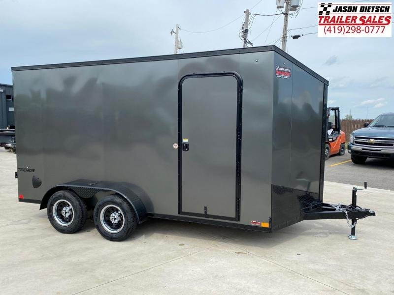 2022 Impact Tremor Blackout 7x14 Slant/V Nose Cargo Trailer