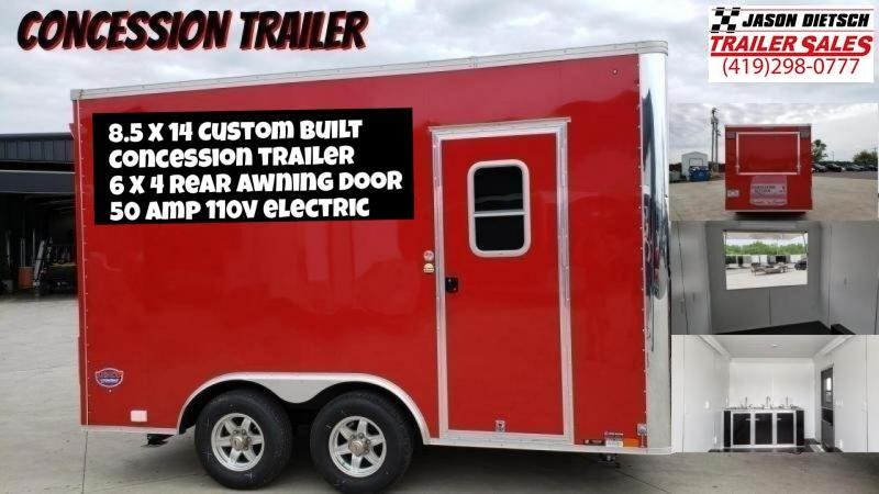 2020 United 8.5X14  Concession Trailer (USED)