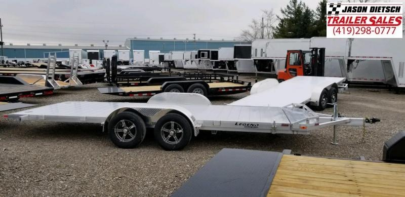 2020 Legend 7x20 All Aluminum OPEN CAR HAULER Tandem Axle ....Stock#LG-317773