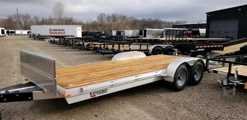 2020 Legend 7x20 Open Car Hauler All Aluminum Tandem Axle ....Stock#LG-317582