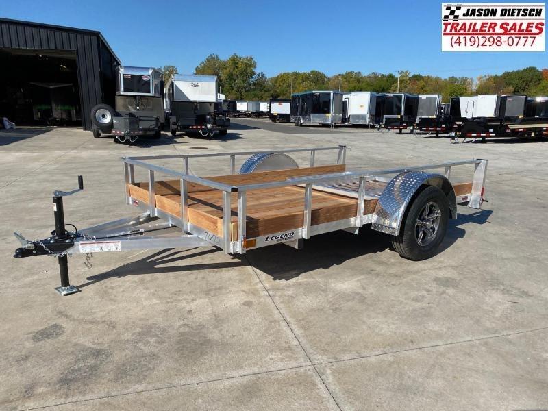 2021 Legend 6X10 Aluminum Low Side Utility Trailer