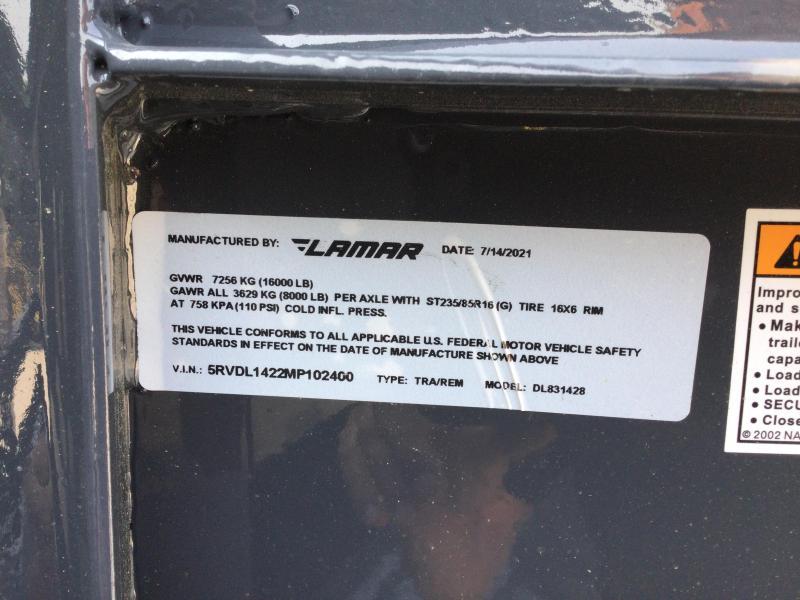 2021 LAMAR 83X14 Gooseneck Dump Trailer 16K