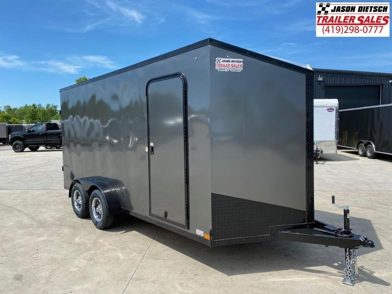 2021 Impact Tremor Blackout 7x16 Slant/V Nose Cargo Trailer