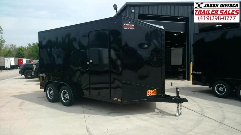 2021 Impact 7x14 Extra Height (Blackout) V-Nose Cargo Trailer