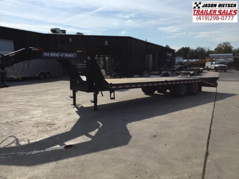 2021 sure trac 102X25 Tandem Gooseneck Equipment Trailer