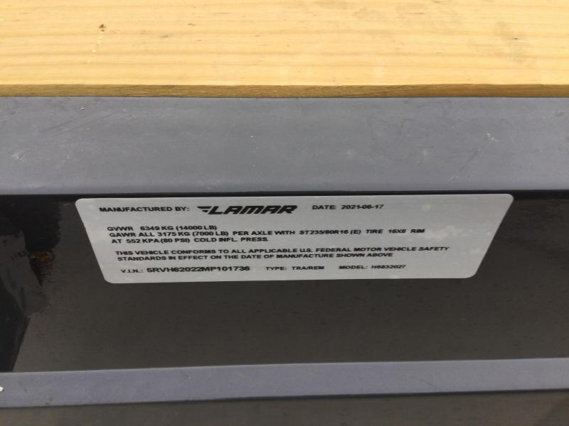 2021 Lamar 83x20 Equipment Trailer 14K