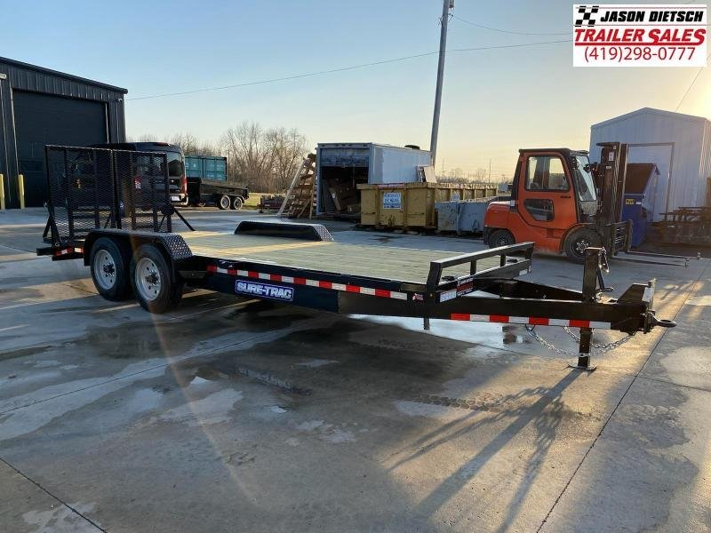 2021 Sure-Trac 7 x 20 (18+2) Equipment Trailer  16K