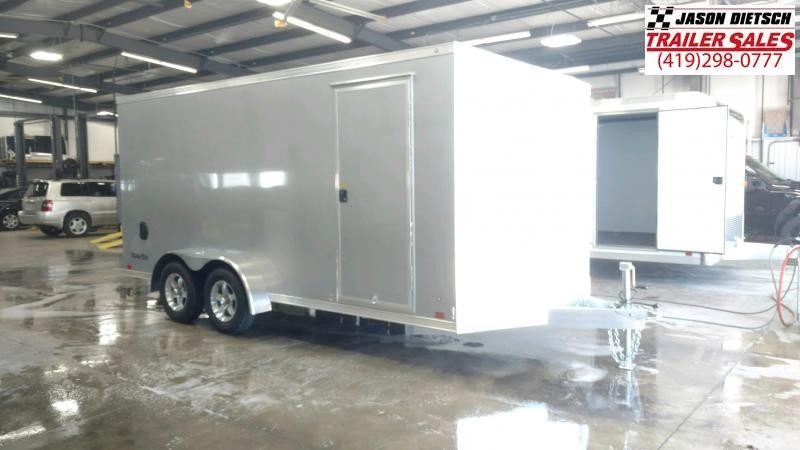 2022 ATC 7X16 ALUMINUM ENCLOSED CARGO TRAILER..