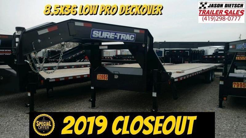 2019 Sure-Trac 8.5x36 LowPro Deckover 15K Equipment Trailer